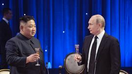Kim Jong Un visits war memorial following summit with Putin