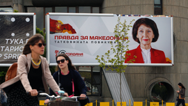 3 candidates vie for North Macedonia presidency