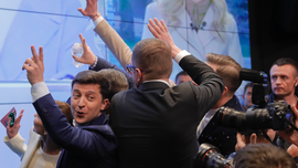 Comic Zelenskiy wins Ukraine presidential vote in landslide