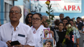 Peruvians gather for funeral of former president Alan Garcia