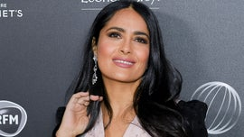 Salma Hayek shows off toned figure in one-piece swimsuit