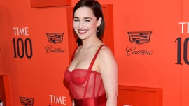 'Game of Thrones' star Emilia Clarke is fierce in red at Time 100 Gala