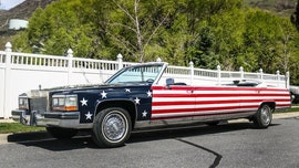 American flag-painted convertible Cadillac limousine was born for the Fourth of July ... parade