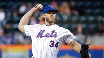 SEE IT: Cardinals' Fowler helps Mets'Noah Syndergaard hit home run