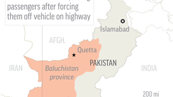14 lined up and killed in southwestern Pakistan in 'act of terror'