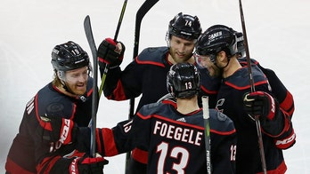 Hurricanes rout Caps 5-0 in 1st home playoff game since '09