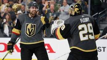 Fleury gets 15th playoff shutout, Vegas beats Sharks 5-0