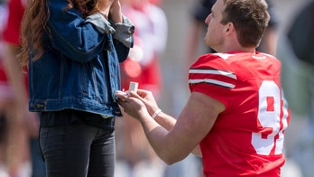 Ohio State punter proposes to girlfriend during halftime kicking 'contest': 'It worked out perfectly'