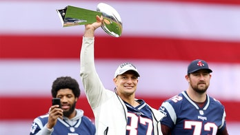 Rob Gronkowski has one-word response to denting Super Bowl trophy