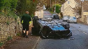 Unlicensed driver takes dad's Aston Martin on joyride and promptly wrecks it