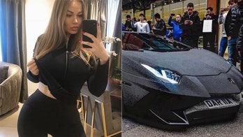 Instagram model Daria Radionova covered her Lamborghini Aventador in millions of Swarvoski crystals