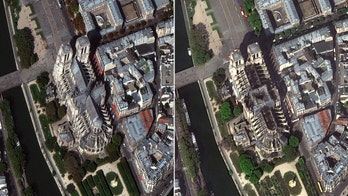 Notre Dame worshipers could pray in 'ephemeral cathedral' made of wood; satellite images show scope of damage