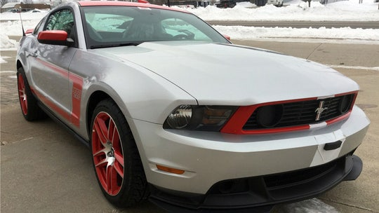 A rare 2012 Ford Mustang Boss 302 driven just 42 miles is up for auction
