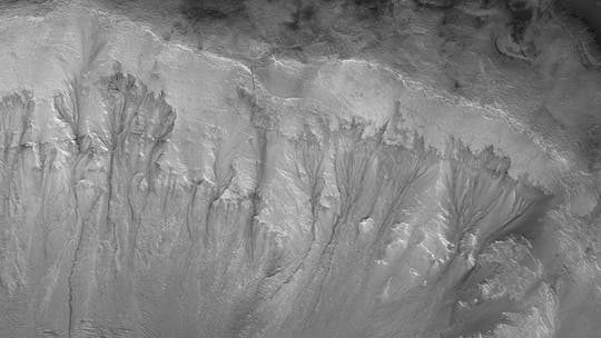 Mars may have significant amounts of water underneath the surface