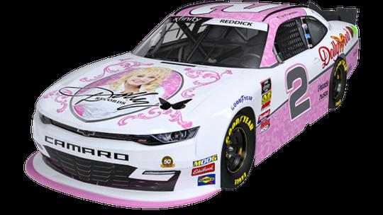Dolly Parton sponsoring Tyler Reddick's NASCAR Camaro at Bristol