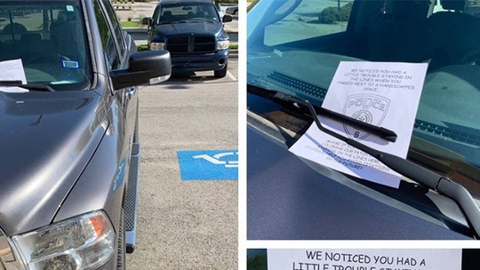 Cops burn bad parking job with coloring book lesson on staying inside the lines