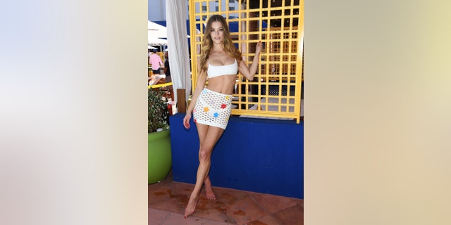 Sports Illustrated swimsuit model Nina Agdal attends the debut weekend of JEMAA at Park MGM on April 13, 2019.