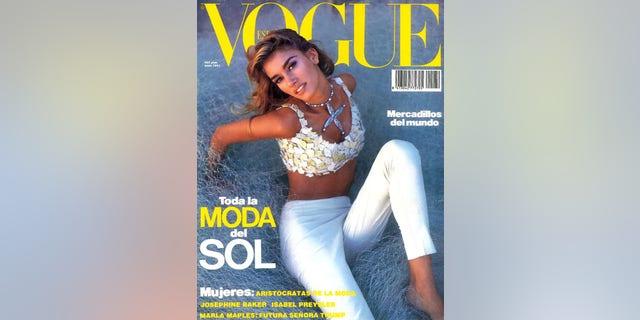 Susan Holmes McKagan on the cover of Vogue España.