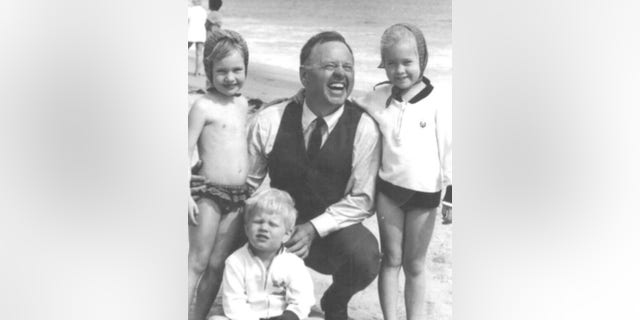 Mickey Rooney with his children at the beach. — Courtesy of Kelly Rooney
