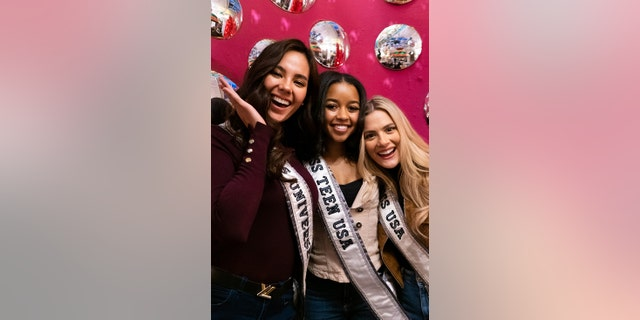 Sarah Rose Summers (right) admitted it's bittersweet to know that her reign as Miss USA is coming to an end.