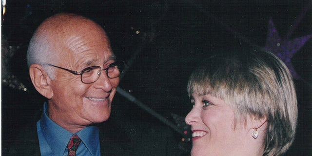 Geri Jewell (right) with Norman Lear.
