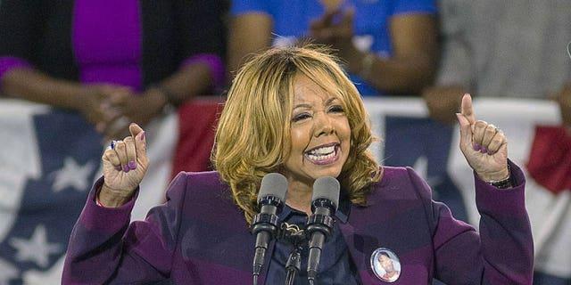 In this Nov. 2, 2018, file photo, Democrat Lucy McBath speaks at Morehouse College in Atlanta.