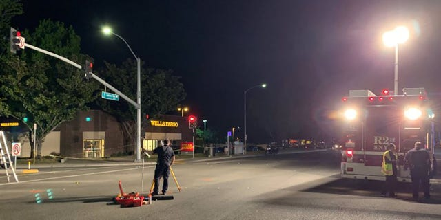 The crash happened at the intersection of El Camino Real and Sunnyvale Saratoga Road in Sunnyvale, California.