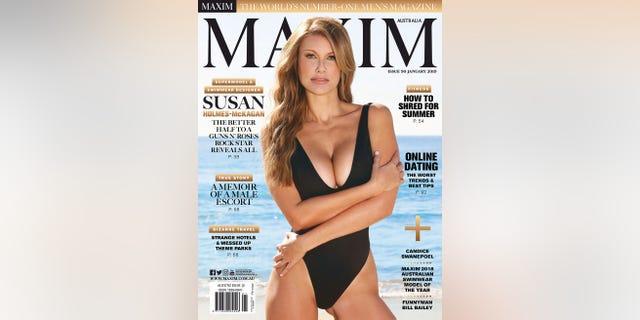 Susan Holmes McKagan on the cover of Maxim Australia.