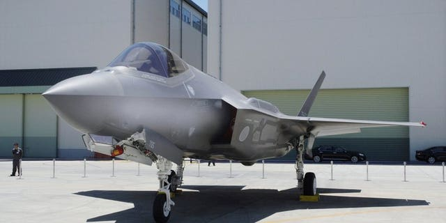 This June, 2017, photo shows Japan Air Self-Defense Force's F-35A stealth jet at a factory of Mitsubishi Heavy Industries, in Toyoyama, central Japan. A search was underway for the Japanese fighter jet Tuesday, April 9, 2019, after it disappeared from radar during a flight exercise in northern Japan, defense officials said. The F-35A stealth jet, seen in the photo, went missing while flying off the eastern coast of Aomori, the Air Self-Defense Force said.