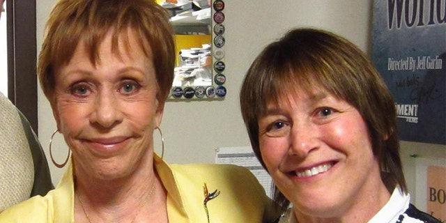 Geri Jewell (right) with Carol Burnett. — Courtesy of Geri Jewell