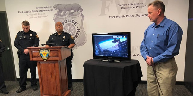 Jim Walker was recognized for helping 2 Fort Worth officers with subduing a combative suspect on Saturday.
