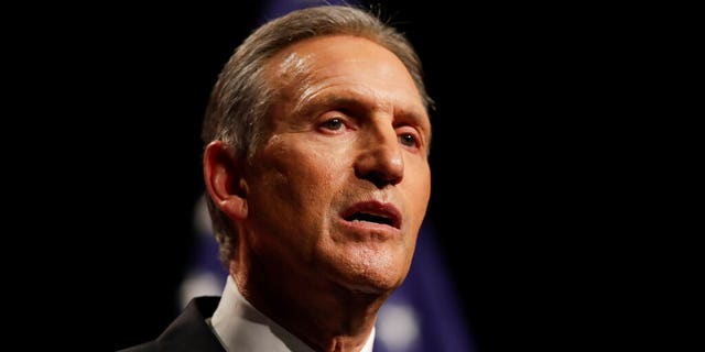 """FILE - In this Feb. 7, 2019, file photo, former Starbucks CEO Howard Schultz speaks at Purdue University in West Lafayette, Ind. A Florida woman is suing Schultz after she says she and others on the national do not call list got automated text messages promoting his book tour. Schultz is considering an independent bid for president and launched a tour in January for his latest book, """"From the Ground Up."""" (AP Photo/Michael Conroy, File)"""