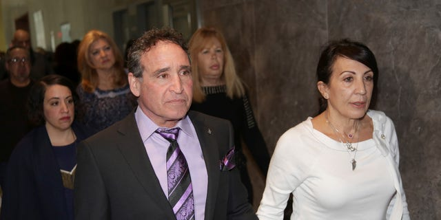 Phillip and Catherine Vetrano, parents of Karina Vetrano, arrive to court in New York, Wednesday.