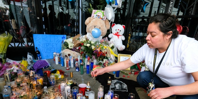 An enormous memorial in Nipsey Hussle's honor has sprung up in front of his clothing store, The Marathon, where he was shot