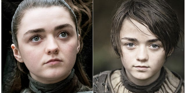 "Maisie Williams portraying Arya Stark in ""Game of Thrones."""