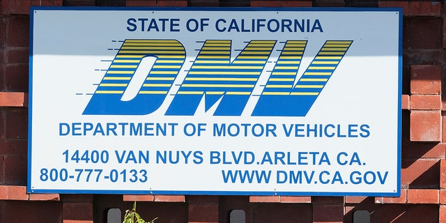 The California Department of Motor Vehicles office in the Arleta neighborhood of Los Angeles is seen Tuesday, April 9, 2019. A soccer fan claims in a lawsuit that the California DMV violated his First Amendment rights by rejecting a personalized license plate he said would celebrate his favorite team, but which the DMV said might be deemed offensive. (AP Photo/Richard Vogel)