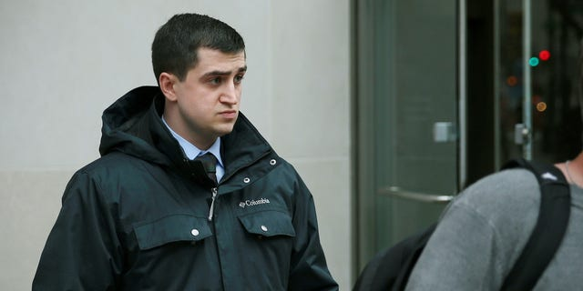 Michael Rohana leaves the James A. Byrne U.S. Federal Courthouse in Center City Philadelphia.