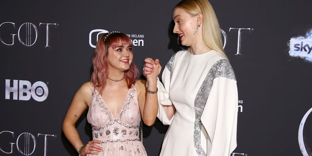 "Sophie Turner posted her reaction to Maisie Williams' first sex scene on ""Game of Thrones."""