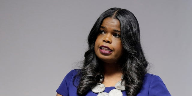 "Cook County State's Attorney Kim Foxx speaks at a news conference, in Chicago. Foxx has asked the county's inspector general to review how her office handled ""Empire"" actor Jussie Smollett's criminal case. (AP Photo/Kiichiro Sato, File)"