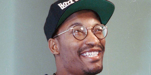"""This July 13, 1991 file photo shows filmmaker John Singleton, who made the movie """"Boyz N The Hood,"""" in Los Angeles."""
