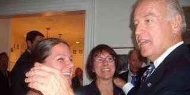 Amy Lappos tells Fox News this photo also shows her with Joe Biden at the fundraiser in 2009. (Amy Lappos)