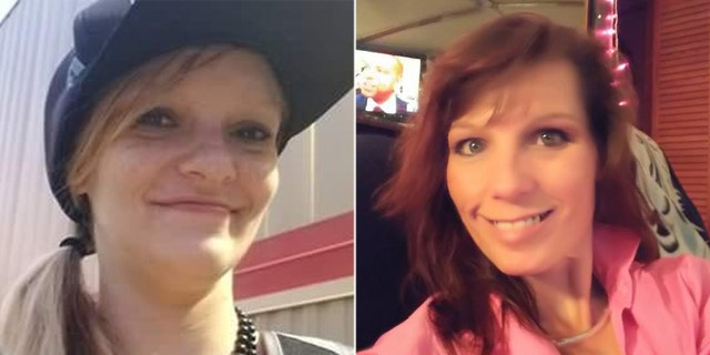 The bodies of Christin Renee Bunner (left) and Melissa Fairlee Rhymer (right) were discovered on the property of a home in Spartanburg, South Carolina on Friday.