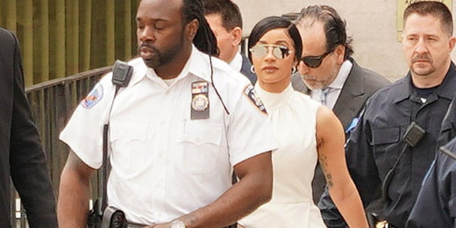 Cardi B is seen on April 19, 2019 at Criminal Court in Queens in New York City.
