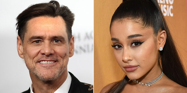 Jim Carrey (left) had a sweet response to Ariana Grande after the singer quoted him on depression.