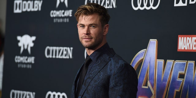 "Chris Hemsworth at the premiere of ""Avengers: Endgame"" at the Los Angeles Convention Center in April."