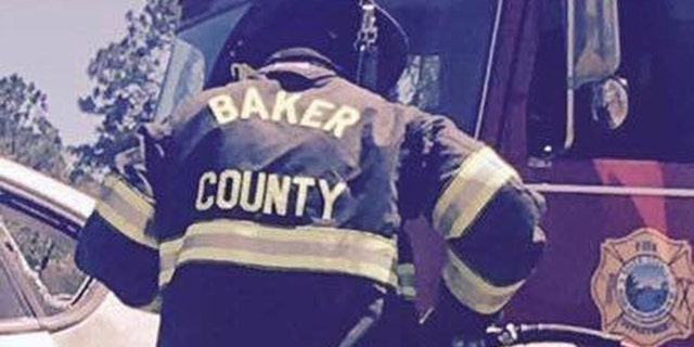 Chris Miracle has been a volunteer firefighter in Baker County for six years.