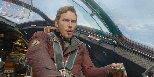 """Chris Pratt as Peter Quill aka Star-Lord in """"Guardians of the Galaxy."""""""