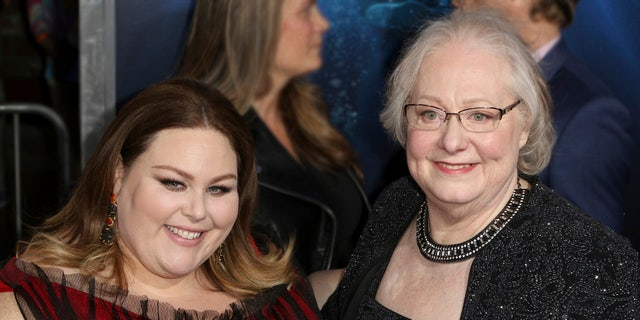 """Chrissy Metz, left, and Joyce Smith arrive at the LA Premiere of """"Breakthrough"""" at the Regency Village Theatre on Thursday, April 11, 2019, in Los Angeles. (Photo by Willy Sanjuan/Invision/AP)"""