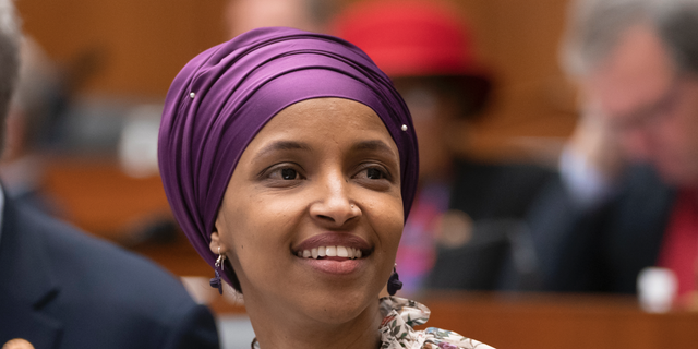 Rep. Ilhan Omar, D-Minn., has been accused by Democrats and Republicans of being an anti-Semite. (AP Photo/J. Scott Applewhite)