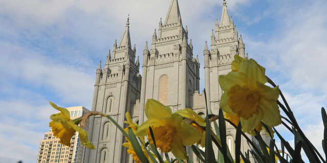 The Salt Lake City temple is shown during The Church of Jesus Christ of Latter-day Saints' two-day conference Saturday, April 6, 2019, in Salt Lake City. Church members are preparing for more changes as they gather in Utah for a twice-yearly conference to hear from the faith's top leaders. (AP Photo/Rick Bowmer)
